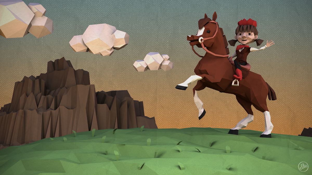 Low Poly Cowgirl